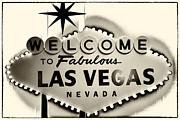 Leslie Leda Posters - Welcome to Fabulous Las Vegas Nevada Poster by Leslie Leda