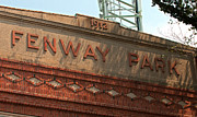 Boston Redsox Posters - Welcome to Fenway Park Poster by Paul Mangold