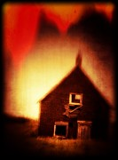 Creepy Metal Prints - Welcome to Hell House Metal Print by Edward Fielding