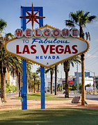 Las Vegas Prints - Welcome to Las Vegas Cartoony Print by Ricky Barnard