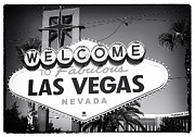 Sin Framed Prints - Welcome to Las Vegas Noir Framed Print by John Rizzuto