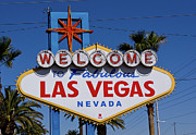 Nevada Framed Prints - Welcome To Las Vegas Framed Print by Photo taken by Darren Olley