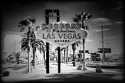 Tree Art Print Framed Prints - Welcome To Las Vegas Series Holga Infrared Framed Print by Ricky Barnard