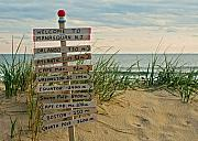 Beach Sign Framed Prints - Welcome to Manasquan Framed Print by Robert Pilkington