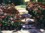 Steps Prints - Welcome to My Garden Print by David Lloyd Glover