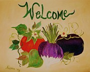 Alanna Hug-mcannally Metal Prints - Welcome to My Kitchen Metal Print by Alanna Hug-McAnnally