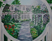 Side Porch Paintings - Welcome to Nantucket by Jami Burns