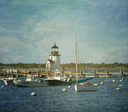 Sail Boats Posters - Welcome to Nantucket Poster by Kim Hojnacki