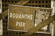 Rodanthe Prints - Welcome To Rodanthe Pier Print by Anne Kitzman