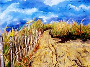 Fencing Paintings - Welcome to the Beach by Lil Taylor