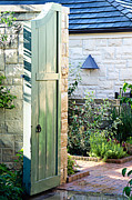 The Green Door Prints - Welcome To The Garden Print by Andee Photography
