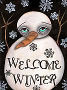 Paiting Metal Prints - Welcome Winter Metal Print by  Abril Andrade Griffith