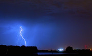 Images Lightning Prints - Weld County Looking East from County Line CO Print by James Bo Insogna