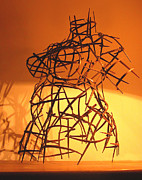 Contemporary Sculpture Originals - Welded Torso by Tommy  Urbans