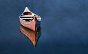 Canoe Photo Prints - Well Anchored Print by Robin-lee Vieira