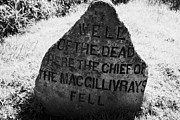 Battlefield Site Photo Posters - well of the dead and clan macgillivray memorial stone on Culloden moor battlefield site highlands sc Poster by Joe Fox