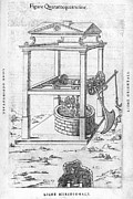 Female Worker Prints - Well Pulley System, 16th Century Artwork Print by Middle Temple Library