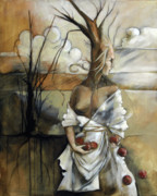 Twigs Paintings - Well Suited Tree Woman by Jacque Hudson-Roate