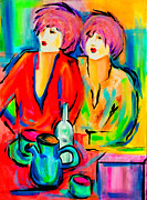 Bistro Paintings - Well Think It Over by Susi Franco