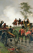 Infantry Framed Prints - Wellington at Waterloo Framed Print by Ernest Crofts
