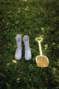 Child Photos - Wellingtons And Shovel by Joana Kruse