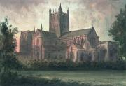 Village Scenes Prints - Wells Cathedral Print by Paul Braddon
