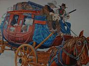 Arizona Digital Art Originals - Wells Fargo Stagecoach by Rob Hans