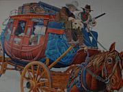 Wells Fargo Stagecoach Print by Rob Hans