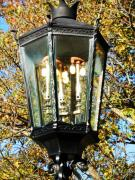 Oil Lamp Photos - Wellsboro Lamppost in Autumn by Jeanette Oberholtzer