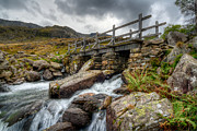 Stream Digital Art Prints - Welsh Bridge Print by Adrian Evans