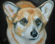 Puppies Mixed Media - Welsh Corgi by Thomas J Herring