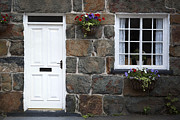 Stone Home Posters - Welsh cottage detail Poster by Jane Rix