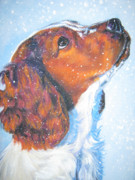 Springer Spaniel Paintings - Welsh Springer Spaniel by Lee Ann Shepard