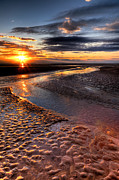 Weathered Digital Art Prints - Welsh Sunset Print by Adrian Evans