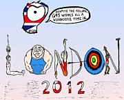 Pole Drawings - Welsome to the 2012 London Olympics by Yasha Harari
