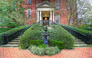 Trees Light Windows Prints - Wentworth Mansion Entrance  Print by Drew Castelhano
