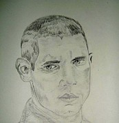 Michael Drawings Posters - Wentworth Miller Poster by Amanda Bilson