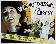Ev-in Metal Prints - Were Not Dressing, Bing Crosby, Carole Metal Print by Everett