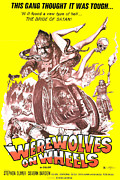 B-movie Art - Werewolves On Wheels, Poster, 1971 by Everett