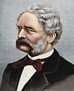 Electrical Engineer Prints - Werner Siemens, German Engineer Print by Sheila Terry