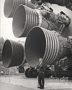 Featured Metal Prints - Wernher Von Braun, Rocket Pioneer Metal Print by NASA / Science Source