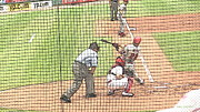 Phillies Digital Art Framed Prints - Werth Swings for Phillies Framed Print by Lani PVG   Richmond