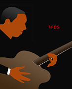 Improvisation Digital Art Prints - Wes Montgomery Print by Victor Bailey