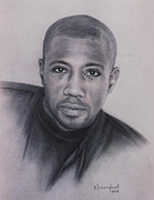 Photorealism Pastels Prints - Wesley Snipes Print by Nanybel Salazar
