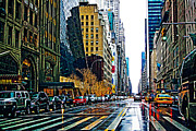 Rainy Day Photo Originals - West 57th by Viki Reed