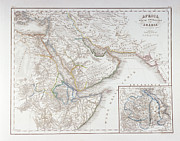 Antique Map Digital Art Metal Prints - West Africa And Arabia Metal Print by Fototeca Storica Nazionale