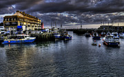 Trawler Metal Prints - West Bay at dusk Metal Print by Rob Hawkins