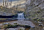 Burton Framed Prints - West Burton Falls Framed Print by Trevor Kersley