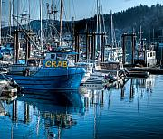 R J Ruppenthal Metal Prints - West Coast Crab Boat Metal Print by R J Ruppenthal
