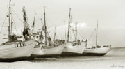 Jutland Framed Prints - West Coast Fishing Boats Framed Print by Robert Lacy